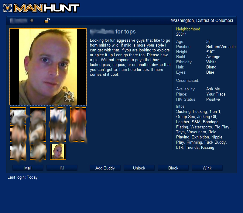 how to delete manhunt profile
